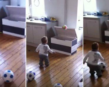 Bebé De 1 Ano Mostra o Seu Talento Enquanto Guarda As Bolas 1
