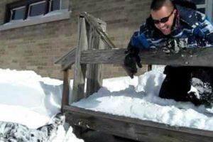 O Objetivo Dele Era Atirar-se Para a Neve Mas Não Era Assim Que Ele Tinha Imaginado 9