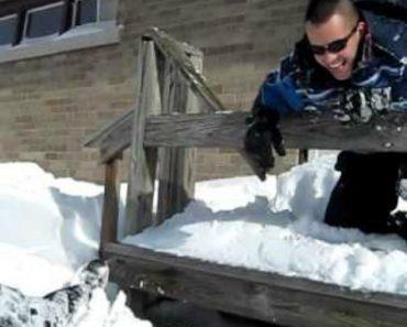 O Objetivo Dele Era Atirar-se Para a Neve Mas Não Era Assim Que Ele Tinha Imaginado 5
