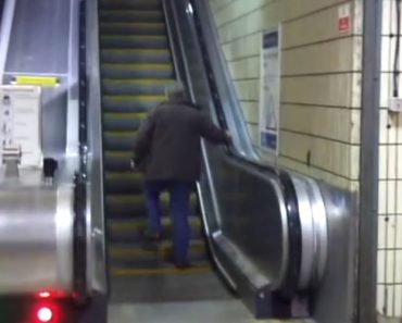 Homem Alcoolizado e Teimoso Insiste Em Subir Escada Rolante Mesmo Vendo Todas As Outras Pessoas a Descerem 2