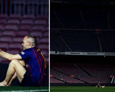 Na Hora Da Despedida, Iniesta Permaneceu Sozinho No Relvado De Camp Nou Até à 1 Da Manhã 1