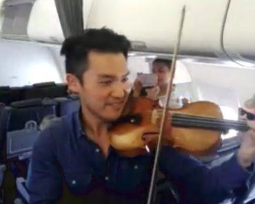 Violinista Improvisou Concerto Em Voo Da TAP Que Foi Desviado 3