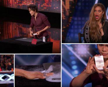 Mágico Faz Incrível Truque De Cartas No America's Got Talent e Deixa Os Presentes Boquiabertos 3