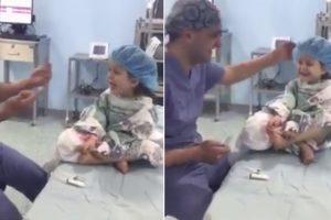 Anestesista Consegue Fazer Com Que Menina Ria à Gargalhada Pouco Antes De Ser Operada 10