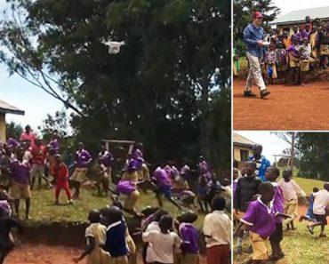 A Maravilhosa Reação De Crianças Africanas Ao Verem Drone Pela 1ª Vez 9