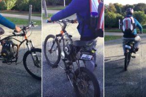 Jovem Transforma Bicicleta Em Motorizada Usando o Motor De Um Corta-Relvas 10