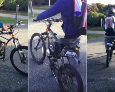 Jovem Transforma Bicicleta Em Motorizada Usando o Motor De Um Corta-Relvas 6