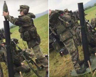 Soldados Têm Pequeno Imprevisto Com Lançamento De Morteiros Durante Exercício Militar 2