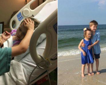 Pai Comove o Mundo Com Imagem Do Filho a Consolar Irmã Mais Nova Horas Antes De Esta Morrer 9