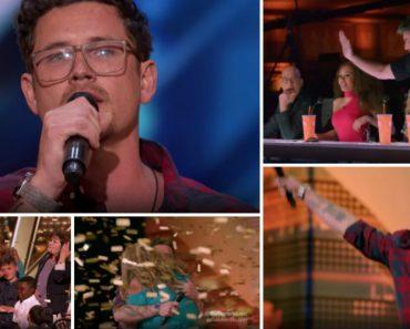 Cantor e Pai De Seis Crianças Recebe o Botão Dourado No America's Got Talent 4