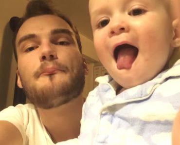 Hilariante Momento Em Que Bebé Tenta Imitar Tio a Fazer Beatbox 6