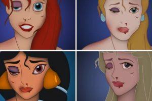 Campanha Contra Violência Doméstica Retratada Através Das Princesas Da Disney 11