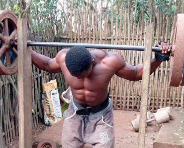 Africanos Conseguem Obter Corpos Esculturais Ao Usarem Equipamentos De Musculação Improvisados 4