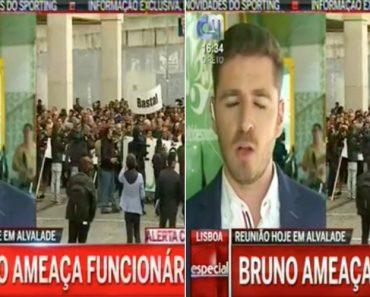 Repórter Da CMTV Engana-se No Nome De Bruno De Carvalho Durante Emissão Em Direto 19