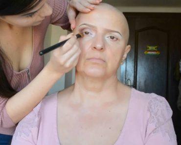 Filha Faz Transformação Impressionante à Mãe Que Está a Fazer Quimioterapia 3