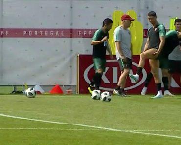 Ronaldo Marca Golo De Ângulo Impossível No Treino Da Seleção 4