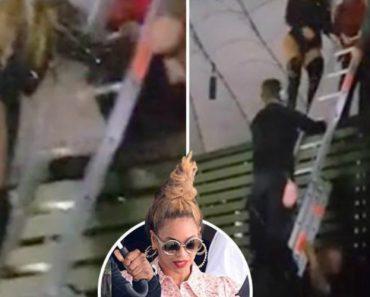 """Ups! Beyoncé Fica """"Presa"""" No Palco e é Obrigada a Descer Por Escadote 5"""