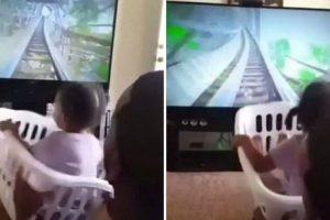 Pai Apenas Precisou De Um Cesto Da Roupa e Uma Tv Para Pôr a Sua Filha a Gritar De Alegria 9