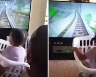 Pai Apenas Precisou De Um Cesto Da Roupa e Uma Tv Para Pôr a Sua Filha a Gritar De Alegria 5