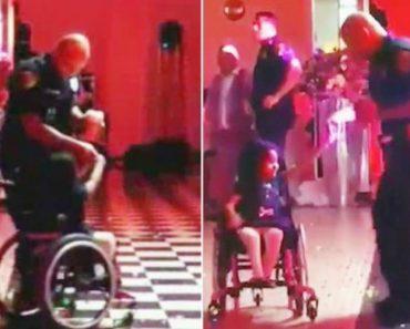 Polícia Dança Com Menina Em Cadeira De Rodas. Gesto Comove a Internet 2