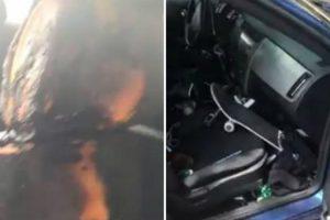 Automobilista Mostra o Que Aconteceu Ao Seu Carro Após Deixar Isqueiro Em Cima Do Banco Num Dia De Calor 8
