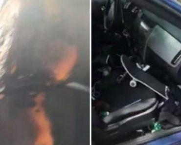 Automobilista Mostra o Que Aconteceu Ao Seu Carro Após Deixar Isqueiro Em Cima Do Banco Num Dia De Calor 7