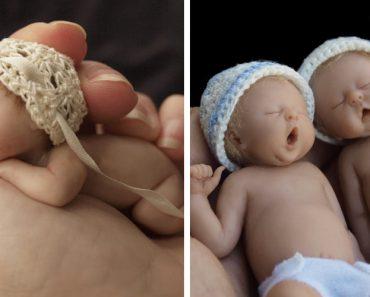 Artista Faz Impressionantes Esculturas De Bebés Em Miniatura, Que São Adoráveis... Ou Arrepiantes 3
