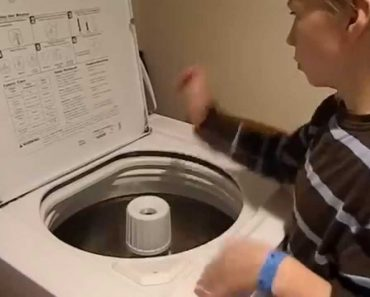 Menino De 10 Anos Mostra As Suas Habilidades Musicais Através Da Máquina De Lavar Roupa 5