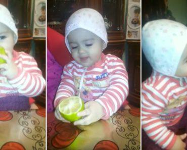 Este Bebé Come Limões à Dentada Como Se Fossem Doces Sobremesas 3
