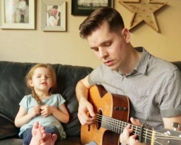 Menina De 4 Anos Canta e Encanta Com o Pai, Num Dueto Maravilhoso 3
