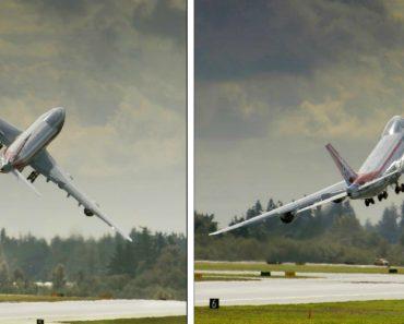 Arriscada Manobra De Descolagem Deixa Avião Boeing 747-8 Praticamente Parado No Ar 2