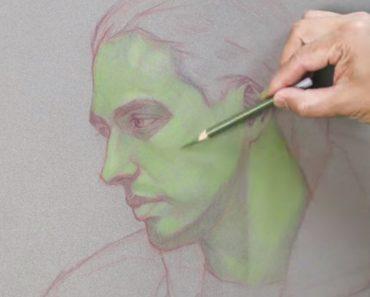 Pintor Usa Lápis Verde Para Colorir Retrato Mas o Resultado Final é De Um Realismo Extraordinário 4