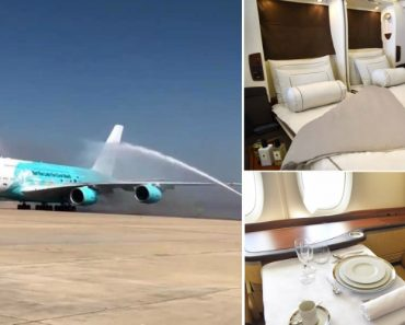 O Interior Do Maior Avião Comercial Do Mundo Que Aterrou Em Beja 6