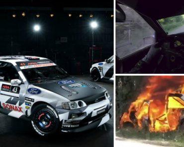 Ken Block Incendeia o Seu Ford Escort RS Cosworth 3