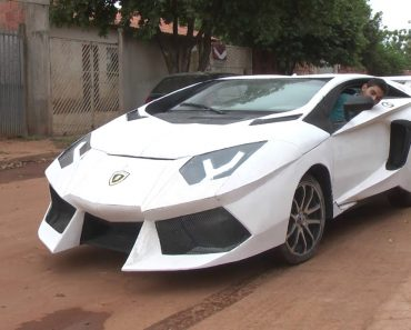 Jovem Brasileiro Transforma o Seu Fiat Uno Num Lamborghini 5