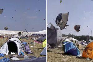 Tendas Voam Ao Sabor Da Música Após Festival Ser Invadido Por Tornado 9