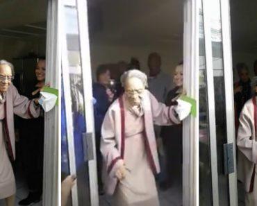 Idosa Mostra Todo o Seu Ritmo e Energia Na Festa Do Seu 100º Aniversário 1
