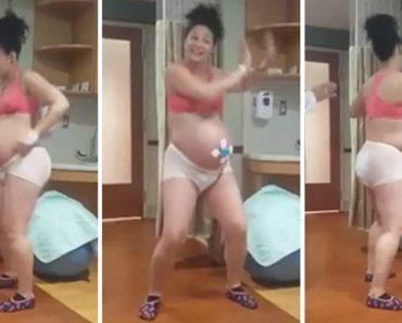 Vídeo De Grávida a Dançar Para Ajudar No Trabalho De Parto Fica Viral, e é Fácil Perceber Porquê 1