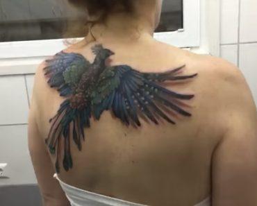 A Tatuagem De Uma Fénix Que Parece Voar Com o Movimento Dos Ombros 2