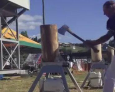 Lenhador Só Com Um Braço Mostra a Sua Incrível Rapidez Em Competição 8