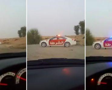 Polícia Do Dubai Usa Método Criativo Para Obrigar Condutores a Abrandarem 6