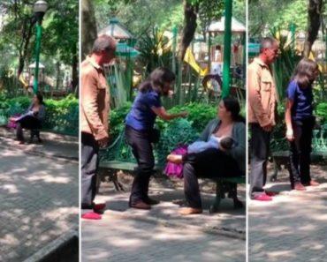 Mulher é Criticada e Insultada Por Casal Ao Verem-na a Dar De Mamar Num Banco de Jardim 2