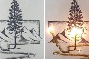 Talentoso Artista Usa Pólvora e Fogo Para Criar Os Seus Quadros 10