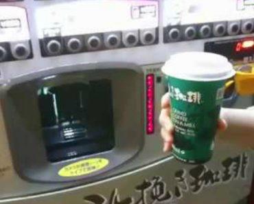 Invulgar Máquina Japonesa Não Só Vende Café Como Mostra o Modo De Preparação 2