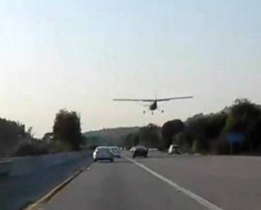 Vídeo Mostra Avião a Aterrar De Emergência Em Autoestrada Na Califórnia 1