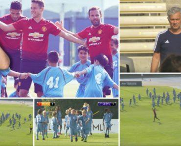 Três Jogadores Do Manchester United Enfrentam 100 Crianças Em Jogo De Futebol Bem Divertido 4