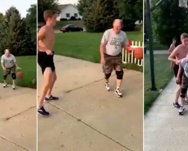 Idoso Deixa Jovem Completamente Atordoado Num Frente-a-Frente Com Uma Bola De Basquetebol 4