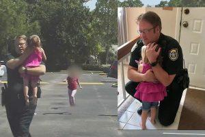 Polícia Resgata Menina Que Passou a Noite Trancada No Carro Da Mãe 10