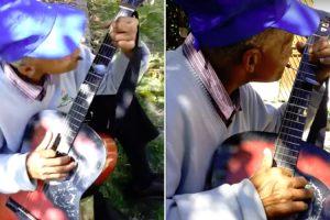 Guitarrista Não Só Toca Com As Duas Mãos Como Ainda Usa Uma Colher De Chá 10