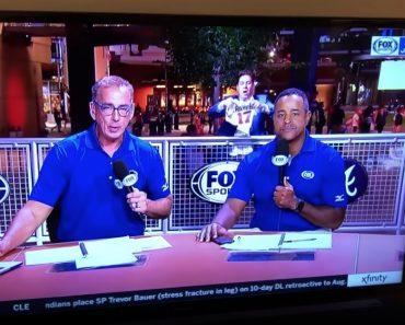 """Segurança Da Fox Sports Tenta Afastar """"Emplastro"""" Mas Acaba Por Virar o Centro Das Atenções 4"""